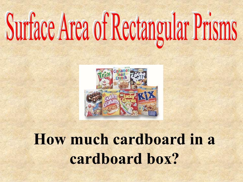 How much cardboard in a cardboard box