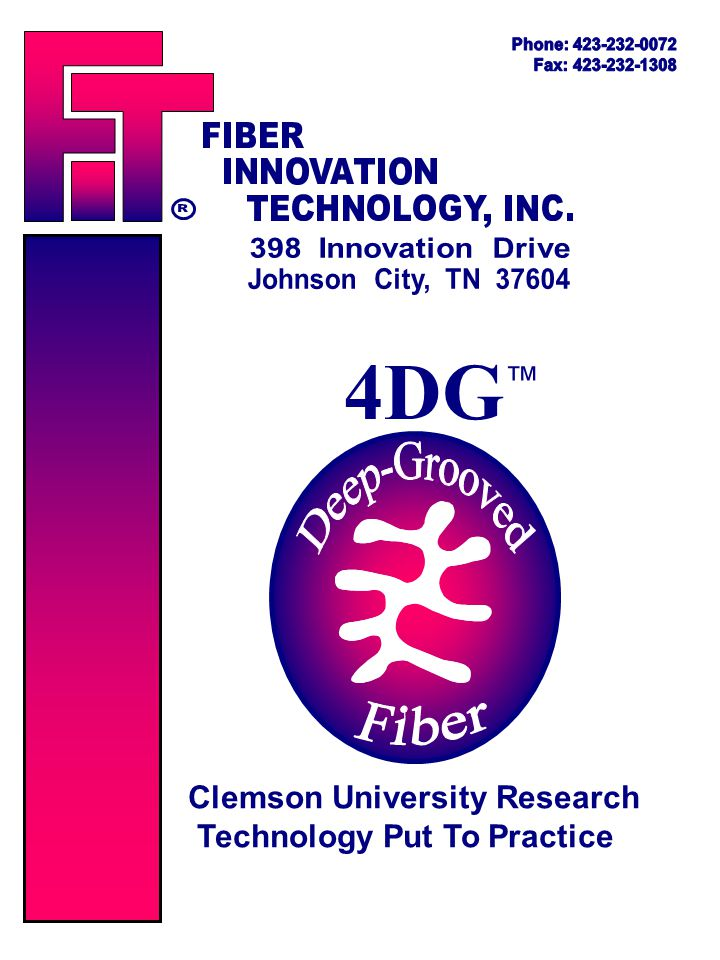 4DG ™ Clemson University Research Technology Put To Practice