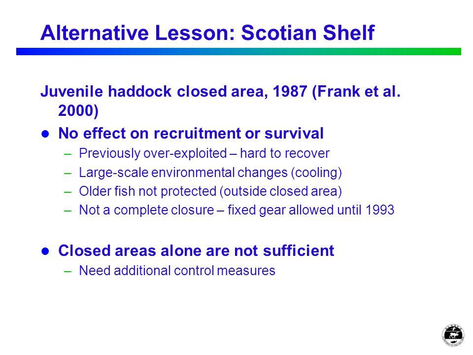 Alternative Lesson: Scotian Shelf Juvenile haddock closed area, 1987 (Frank et al.