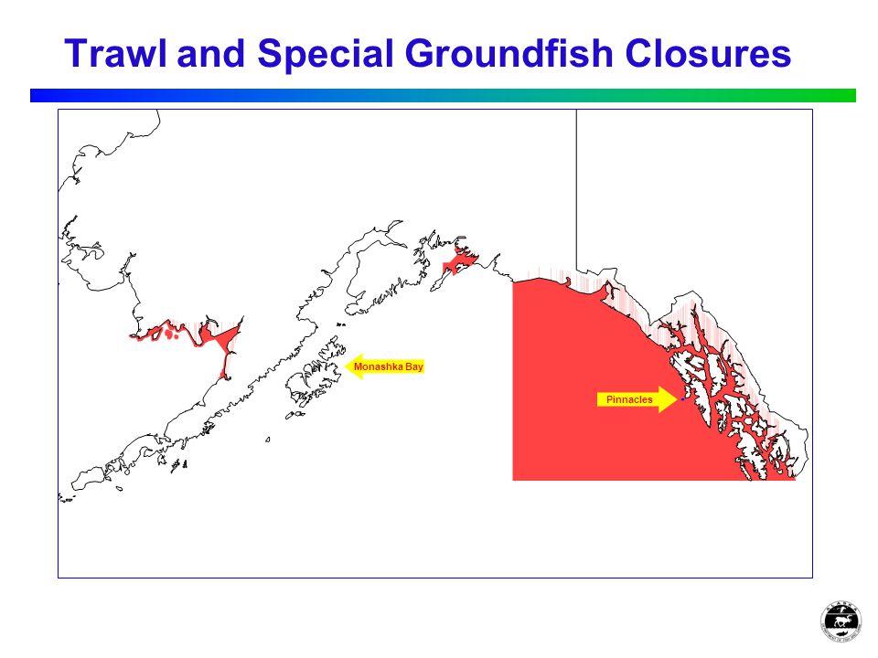 Trawl and Special Groundfish Closures Monashka Bay Pinnacles