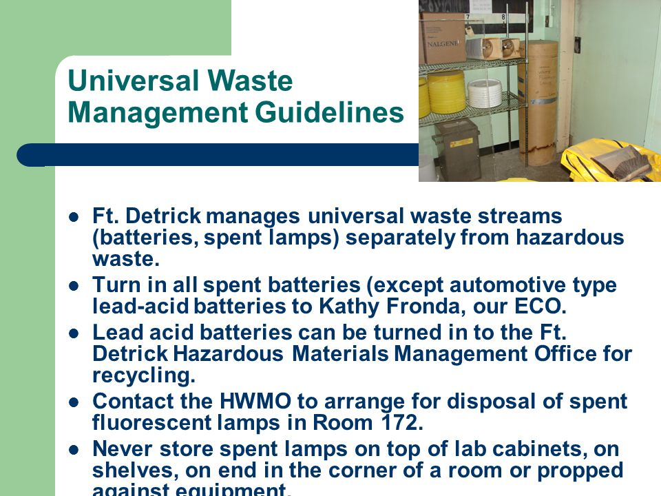 Universal Waste Management Guidelines Ft.