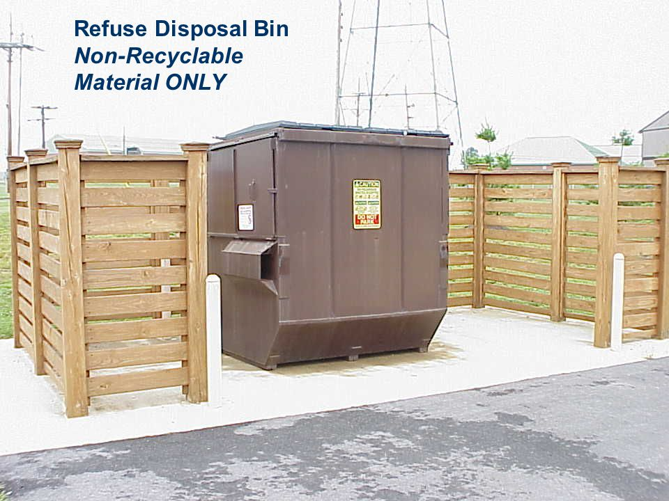Refuse Disposal Bin Non-Recyclable Material ONLY