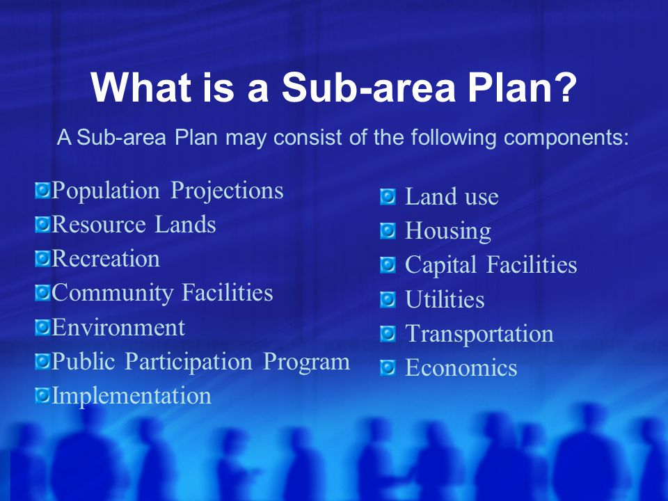 What is a Sub-area Plan.