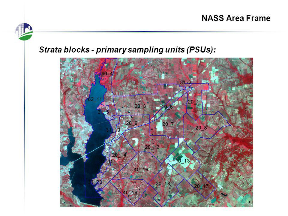 NASS Area Frame Strata blocks - primary sampling units (PSUs):