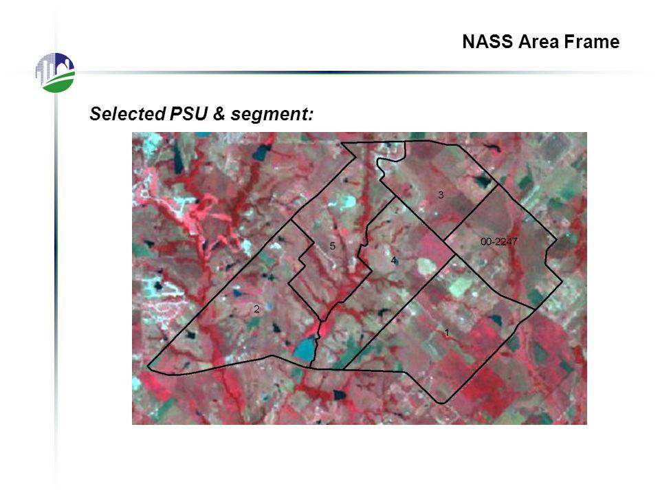 Selected PSU & segment: NASS Area Frame