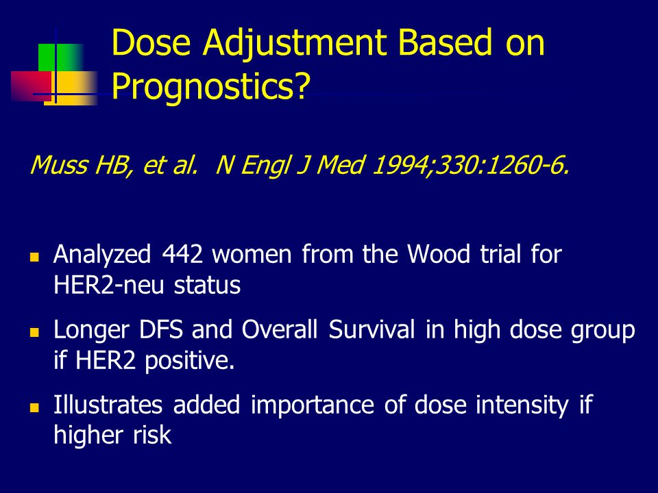 Dose Adjustment Based on Prognostics.Muss HB, et al.