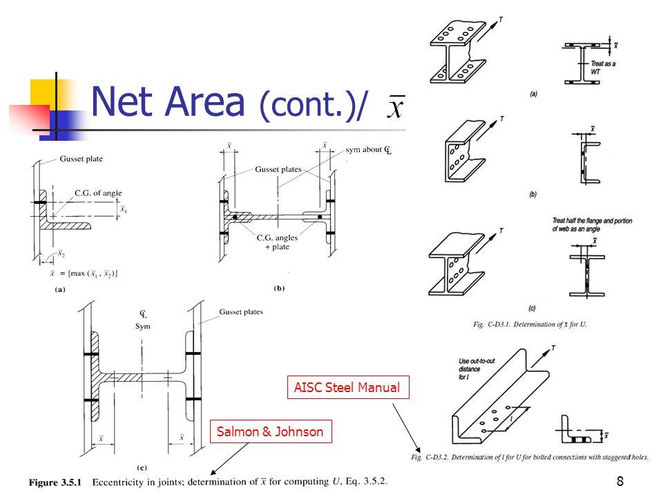 8 Net Area (cont.)/ Salmon & Johnson AISC Steel Manual