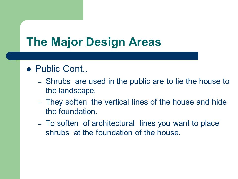 The Major Design Areas Public Cont..