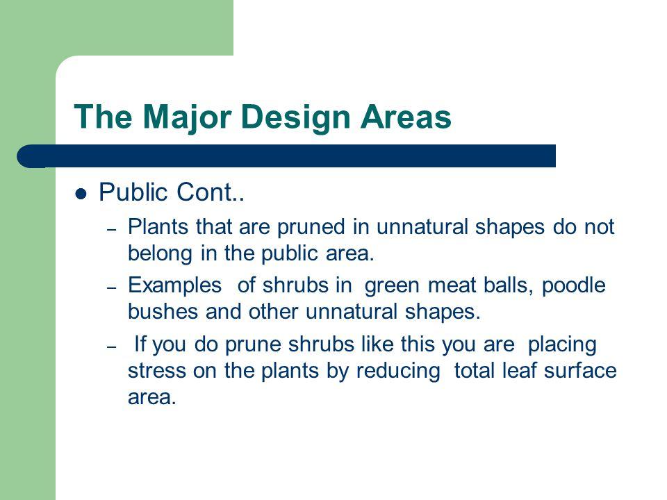 The Major Design Areas Public Cont..