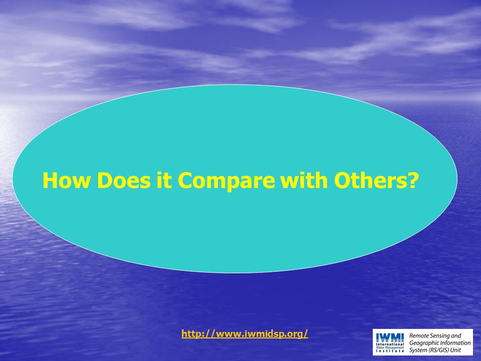 How Does it Compare with Others? http://www.iwmidsp.org/