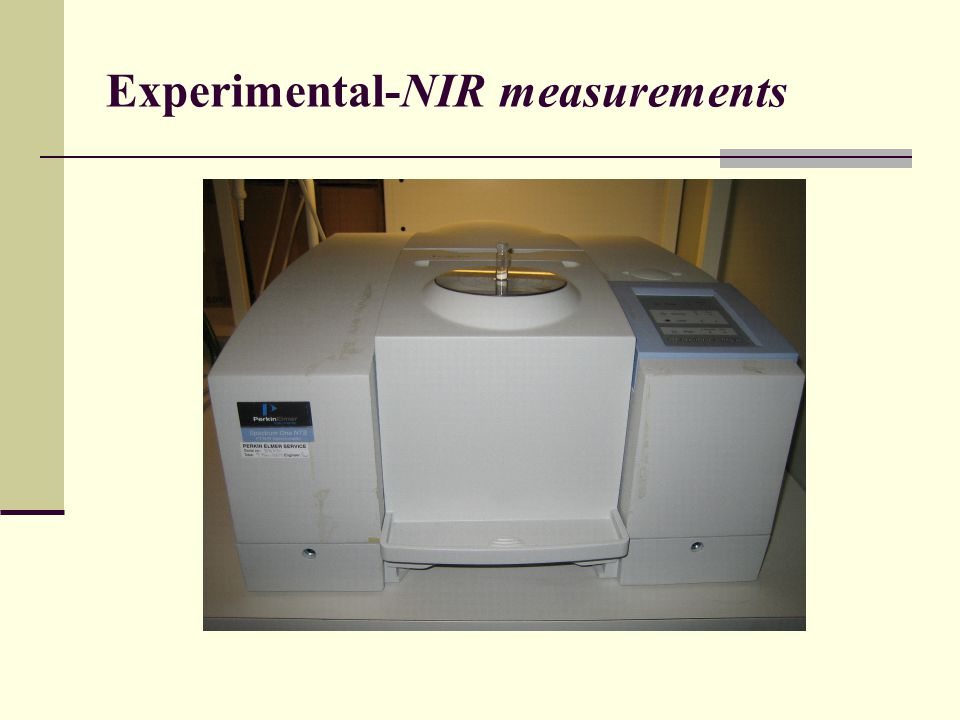 Experimental-NIR measurements