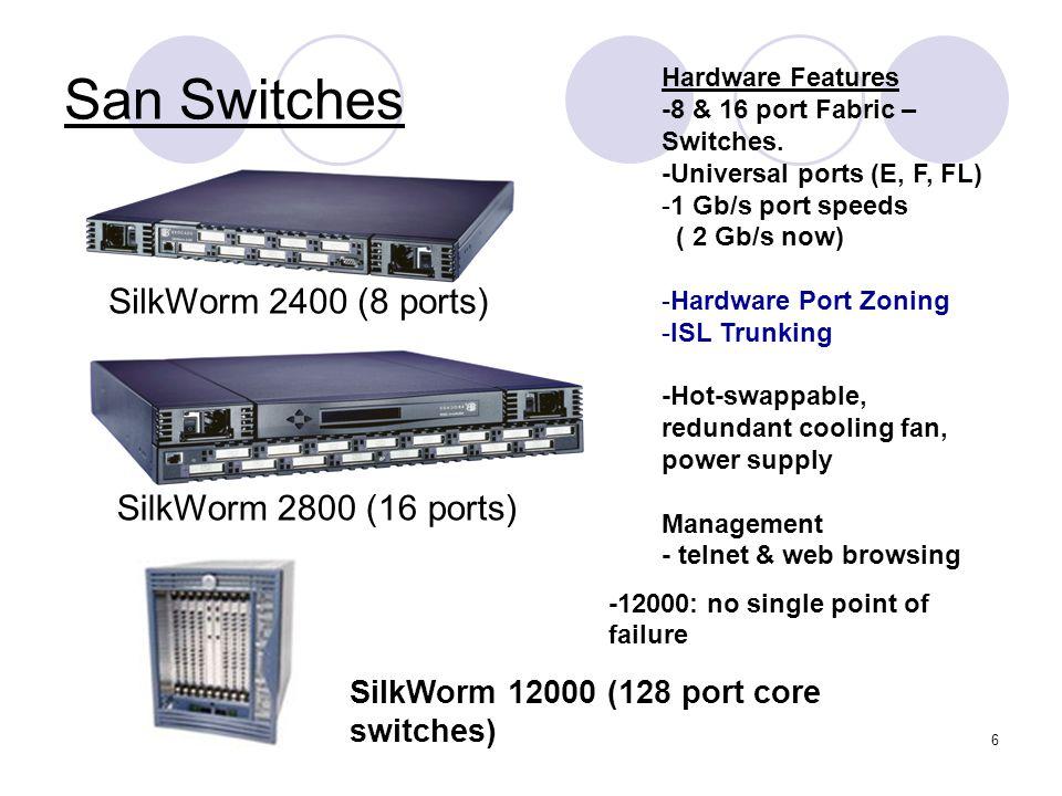 7 Switch Management -using web browsing or telnet