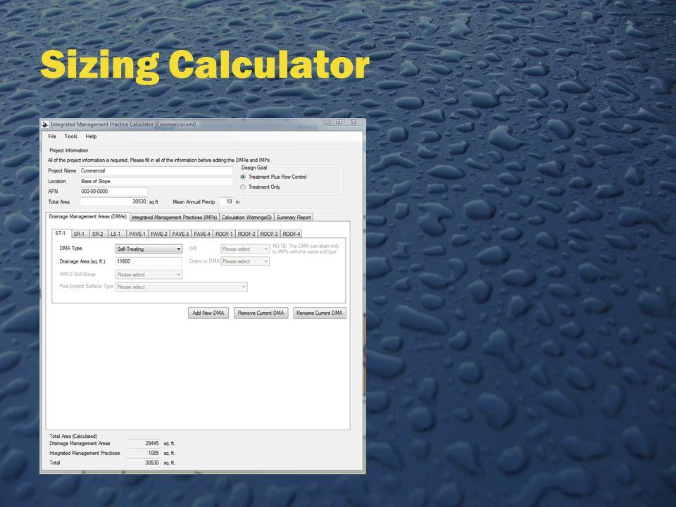 Sizing Calculator