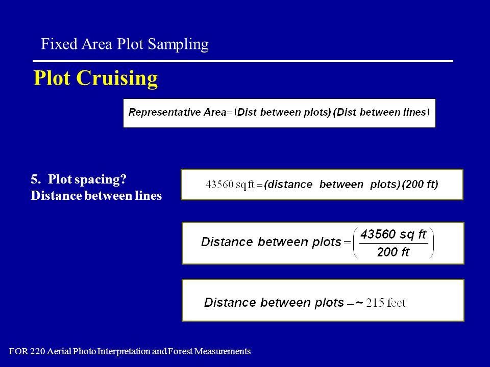 Plot Cruising Fixed Area Plot Sampling FOR 220 Aerial Photo Interpretation and Forest Measurements 5.