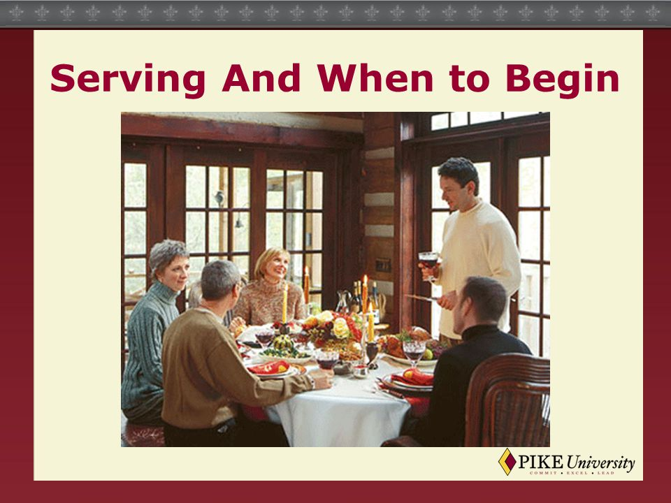 Serving And When to Begin