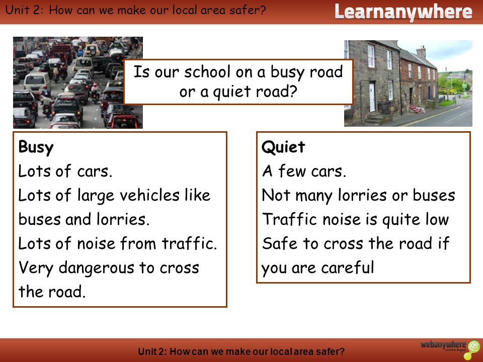 Geography Unit 2: How can we make our local area safer.