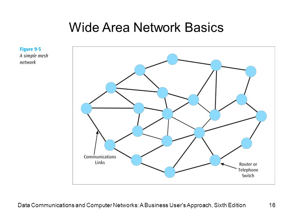 Wide Area Network Basics 16Data Communications and Computer Networks: A Business User's Approach, Sixth Edition