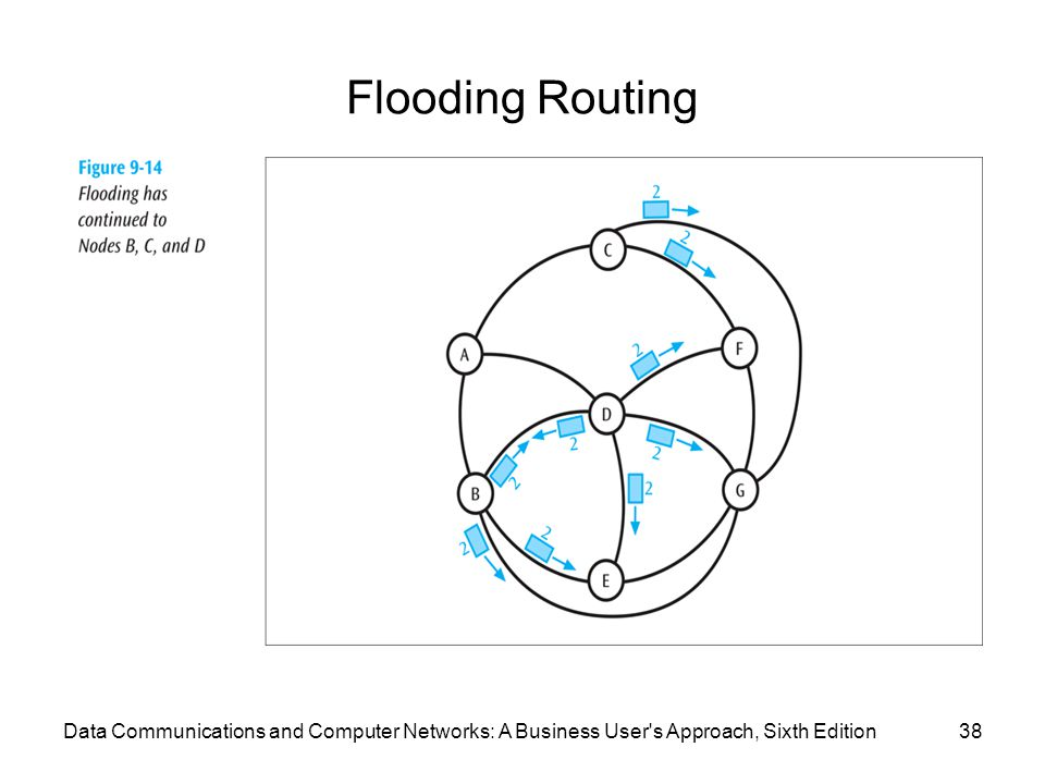 Flooding Routing 38Data Communications and Computer Networks: A Business User's Approach, Sixth Edition