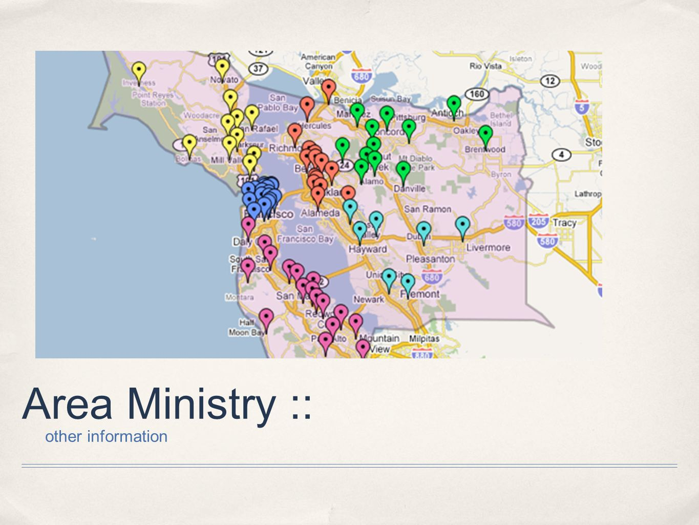 Area Ministry :: other information