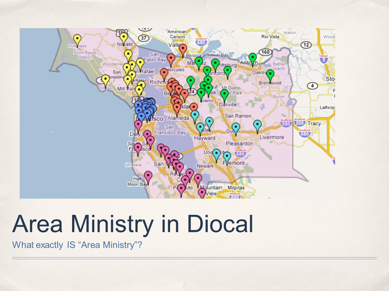 Area Ministry in Diocal What exactly IS Area Ministry