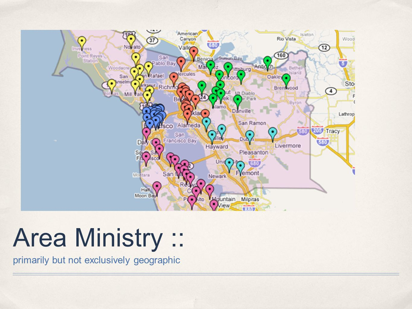 Area Ministry :: primarily but not exclusively geographic