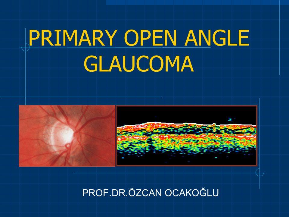 PRIMARY OPEN ANGLE GLAUCOMA PROF.DR.ÖZCAN OCAKOĞLU