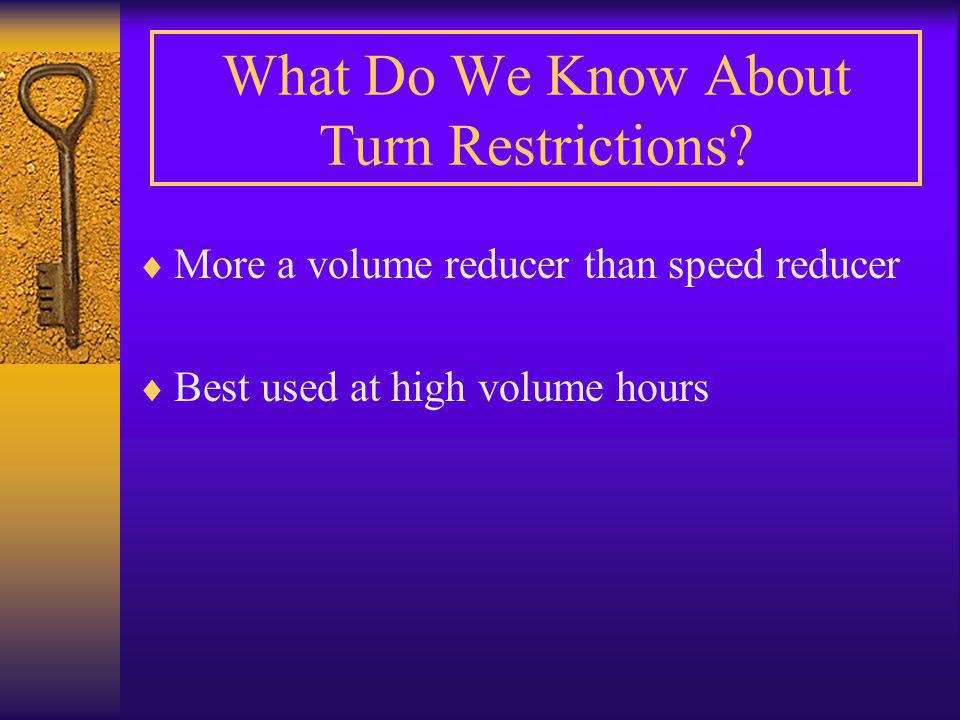 What Do We Know About Turn Restrictions.