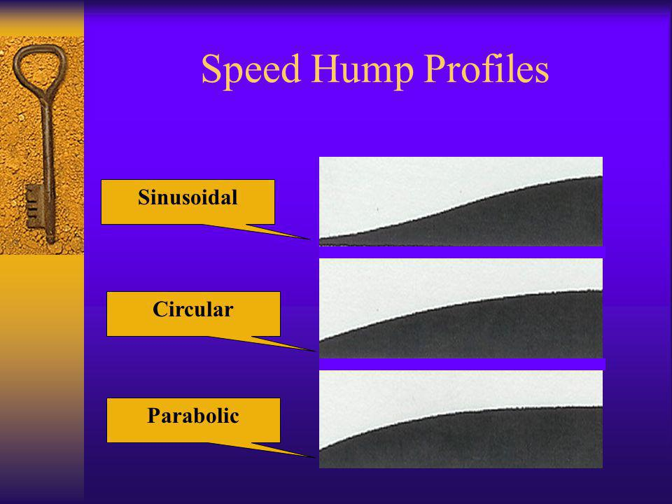 Speed Hump Profiles Sinusoidal Circular Parabolic