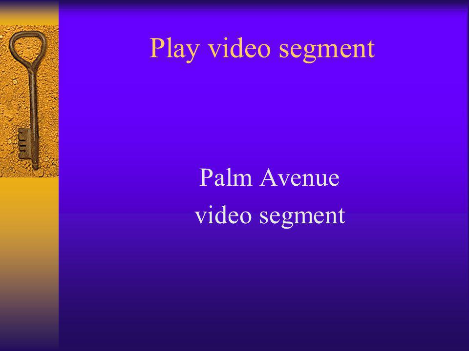 Play video segment Palm Avenue video segment