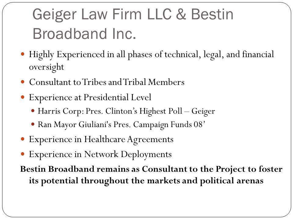 Geiger Law Firm LLC & Bestin Broadband Inc.