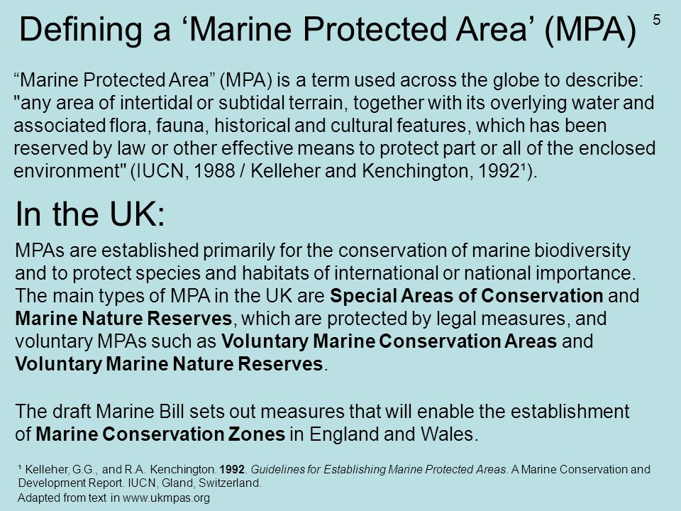 Why MPAs and especially highly protected marine nature reserves are needed.