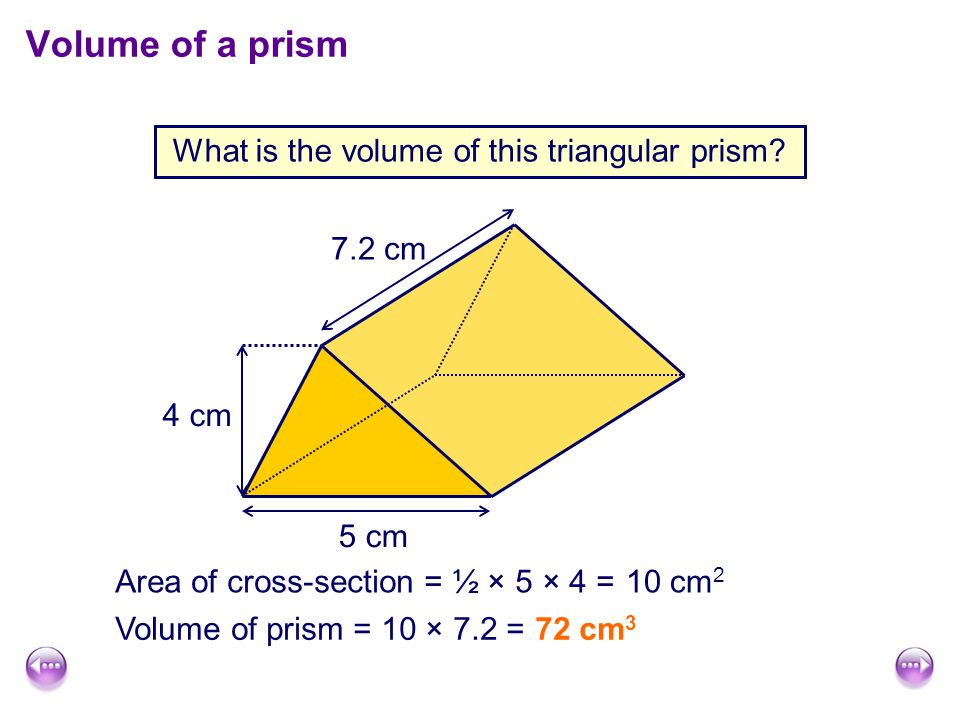 What is the volume of this triangular prism.