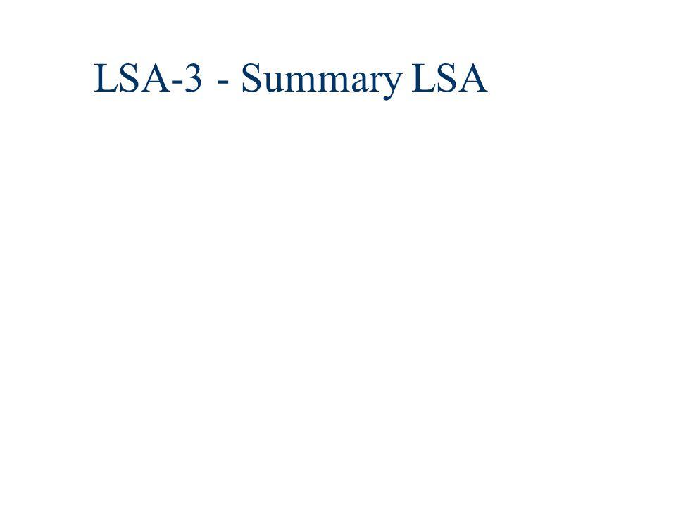 LSA-3 - Summary LSA
