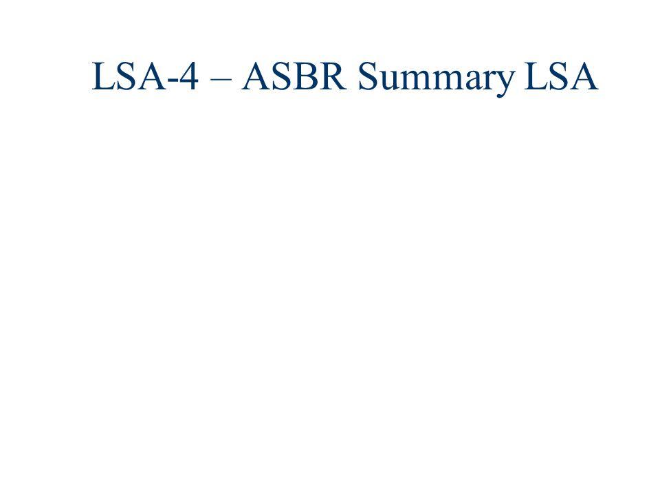 LSA-4 – ASBR Summary LSA