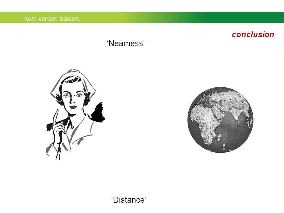 Kom verder. Saxion. 'Nearness' 'Distance' conclusion