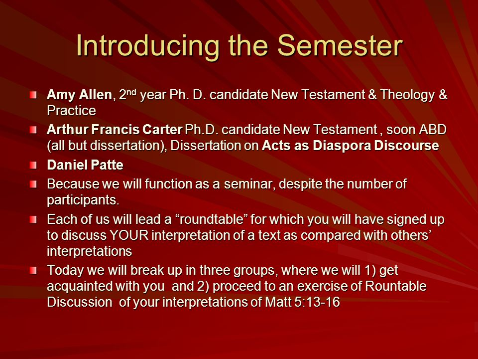 Syllabus & CBI Form Each of you should have a Syllabus & a Form Amy Allen and Arthur Francis Carter will give Syllabi to those without one.