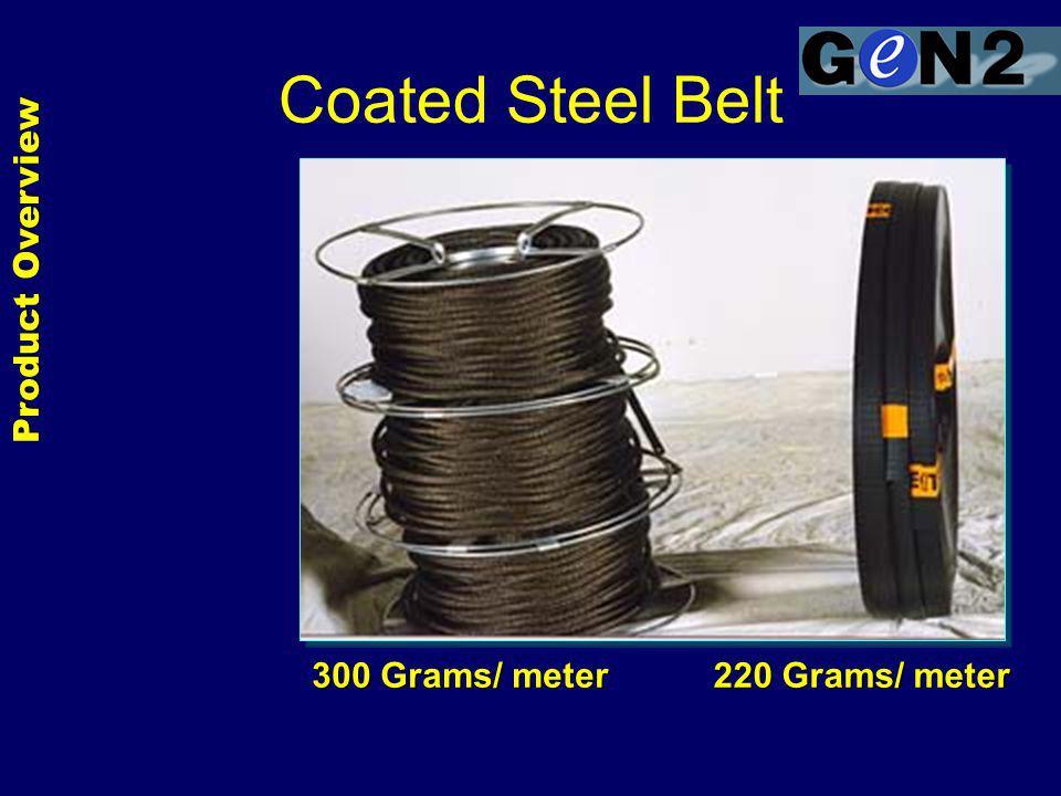 300 Grams/ meter 220 Grams/ meter Product Overview Coated Steel Belt