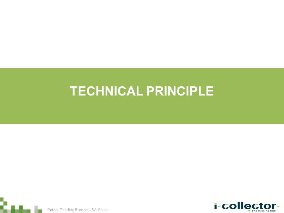 TECHNICAL PRINCIPLE Patent Pending Europe USA China