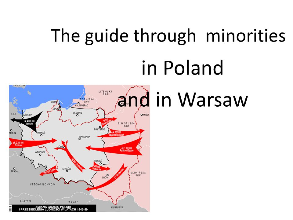 The guide through minorities in Poland and in Warsaw