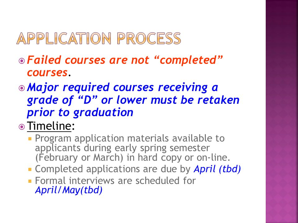  Failed courses are not completed courses.