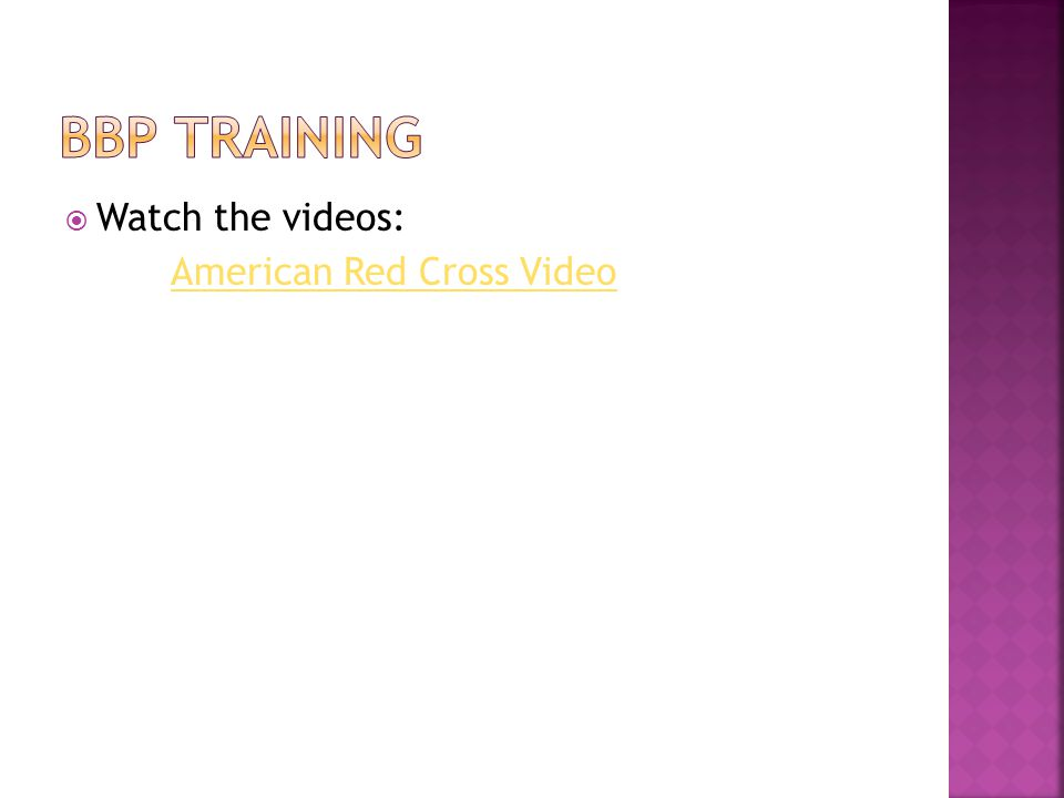  Watch the videos: American Red Cross Video