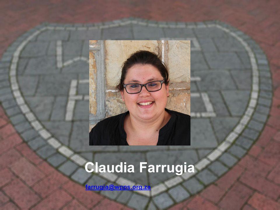 Claudia Farrugia farrugia@wpps.org.za farrugia@wpps.org.za