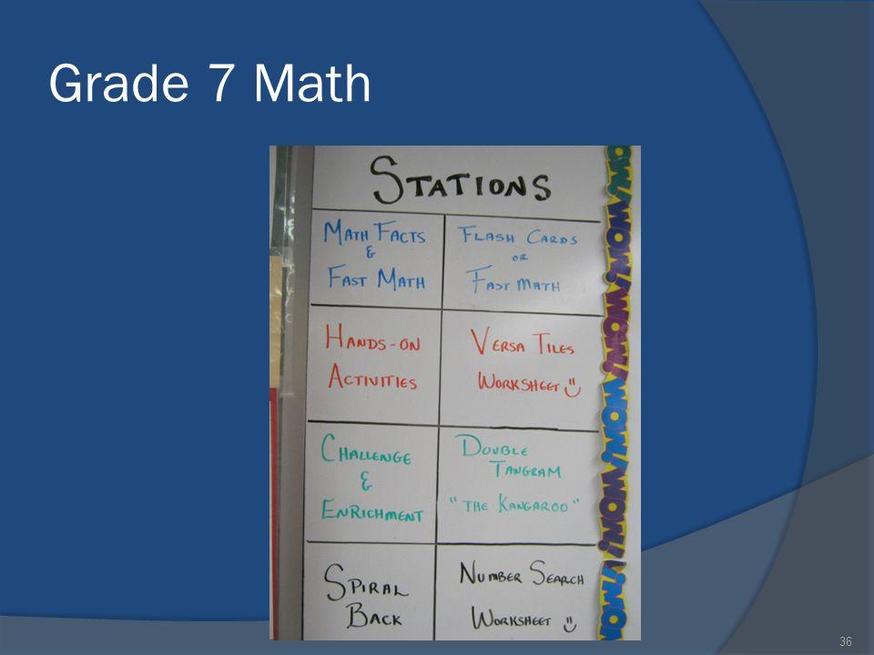 Grade 7 Math 36