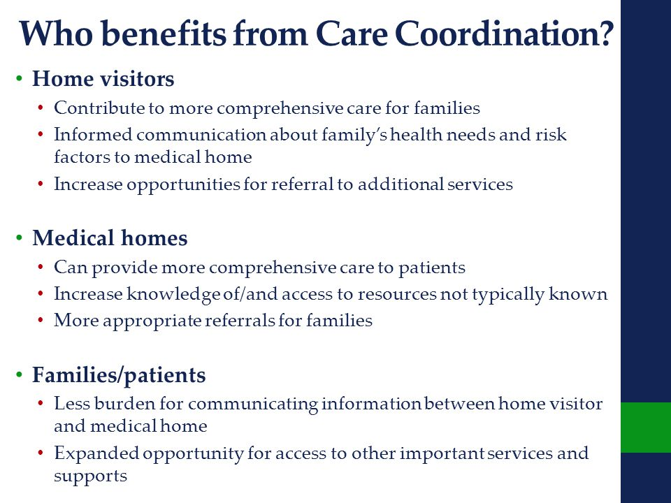 Who benefits from Care Coordination.