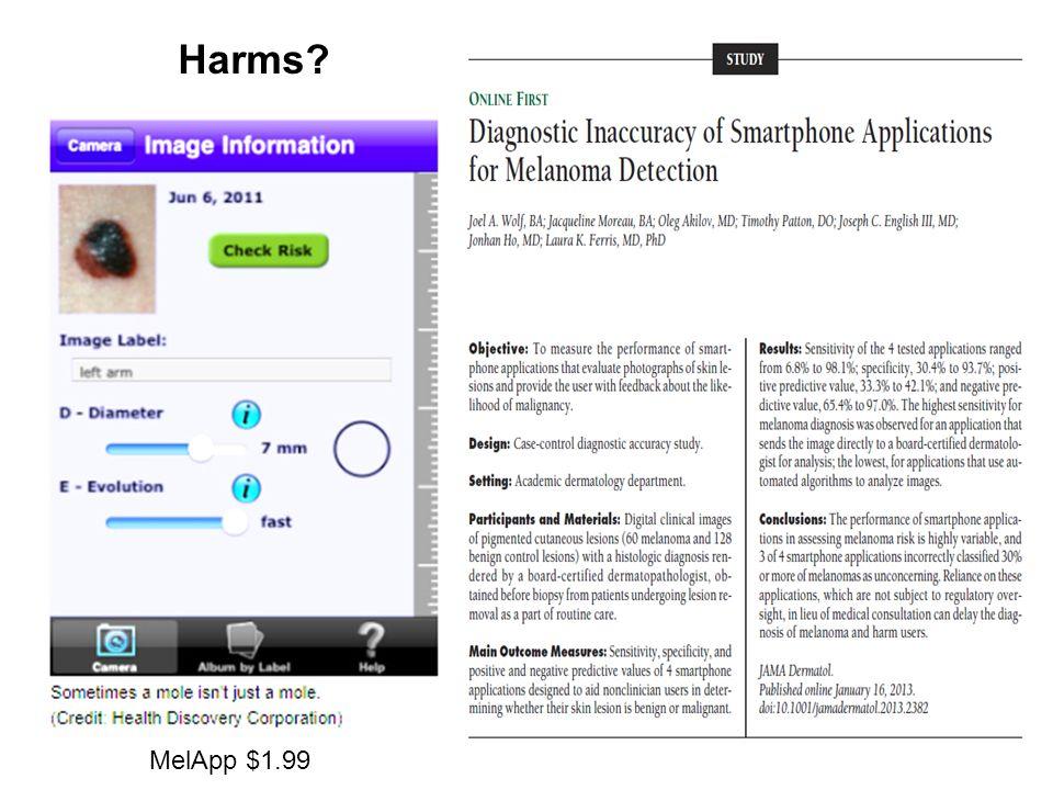 MelApp $1.99 Harms
