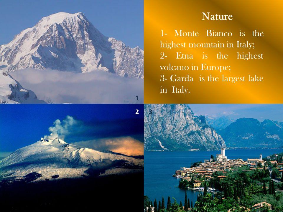 Monte Bianco Etna Garda Elba Capri Eolie Maddalena