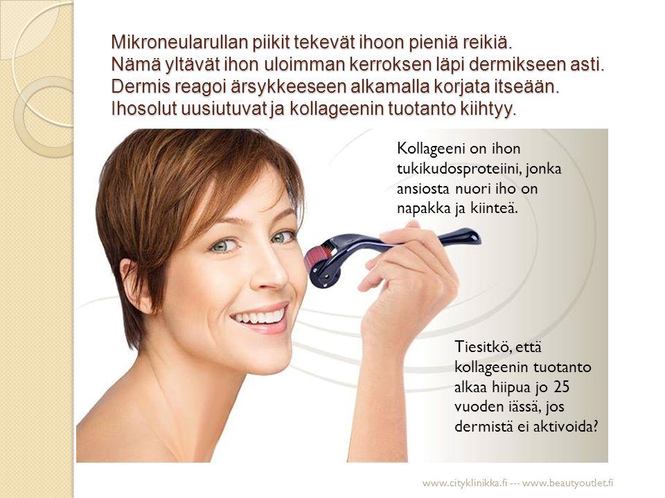 Aknearvet Ennen hoitoa Kolmen kuukauden viikoittaisen mikroneulauskäsittelyn jälkeen www.cityklinikka.fi --- www.beautyoutlet.fi