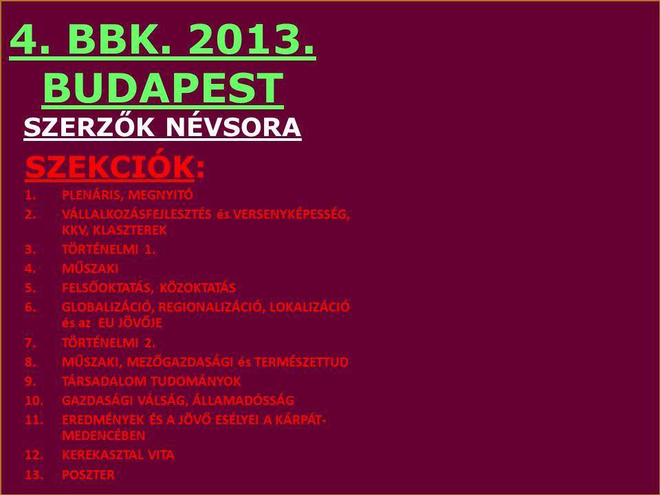 BBK MOLINÓ OE-val 4. BBK. 2013. BUDAPEST
