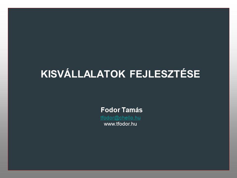 KISVÁLLALATOK FEJLESZTÉSE Fodor Tamás tfodor@chello.hu www.tfodor.hu
