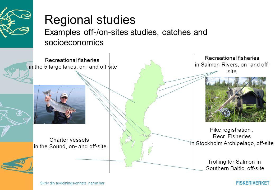 Skriv din avdelnings/enhets namn här Participants in recreational Fishing Swedish citizens 16 – 74 age